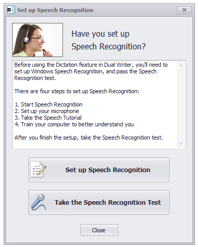Dual Writer Speech Recognition Test