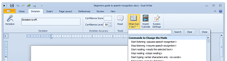 Dual Writer has built-in Speech Recognition so you can dictate your documents.